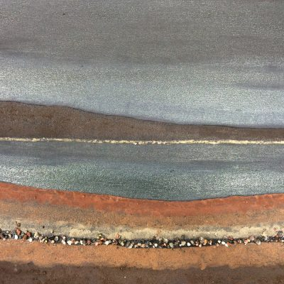 Mull 1 - mud & stones on canvas - 56 x 36 cm